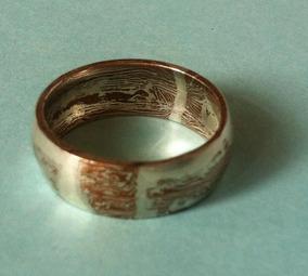 347e1422b8fe  joyeria Mokume Tipo Acero Damasco  anillo  plata .925 cobre