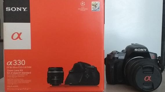 Câmera Fotográfica Sony Alpha A330, Com 2 Lentes