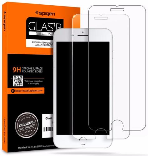 Apple iPhone 8 Spigen Vidrio Templado Protector Pantalla X 2