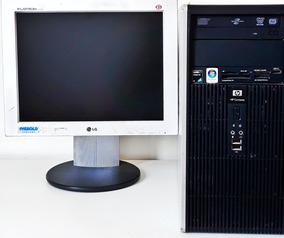 Computador Hp Compaq, Completo Com Monitor, Proc. Amd X2