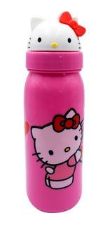 Botella Termo Para Agua Hello Kitty Sanrio Cilindro 3d 500ml