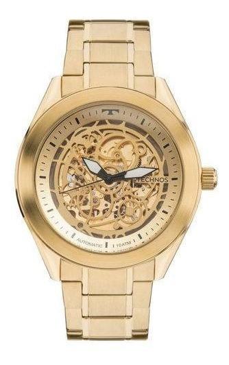 Relógio Technos Dourado Masculino Automático 8n24ah/4x