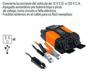 Inversor De Corriente Dual, Con Puerto Usb 400w