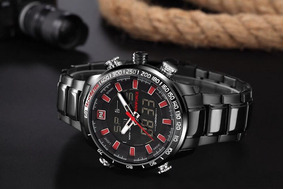 Relógio Masculino Esportivo Digital Original Luxo Naviforce