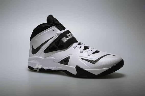 Tênis Nike Lebron James Zoom Soldier 7 - White/black Raro