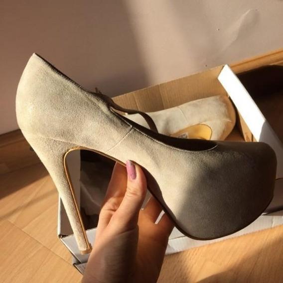 Zapatos Taco Aguja Con Plataforma