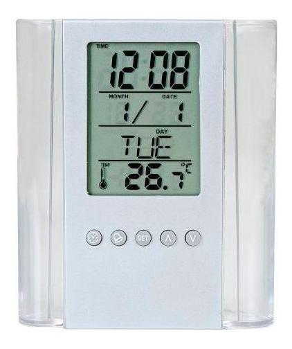Kit 5 Unid Porta-canetas Com Relógio Digital E Temperatura