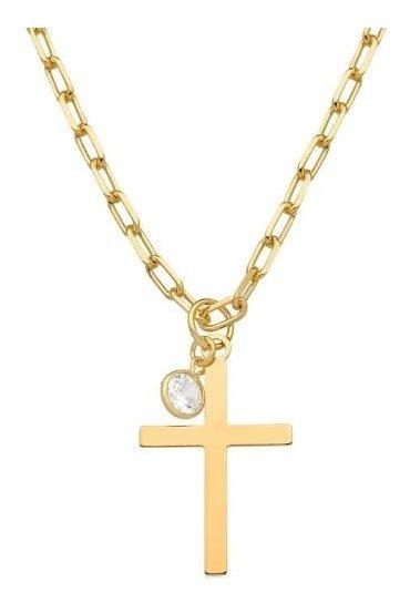 Corrente Semi Jóia Dourada Crucifixo