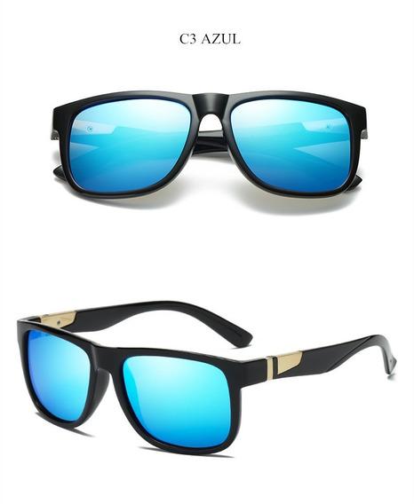 Oculos Solar Yooske Masculino Polarizado Proteção Uv- Azul
