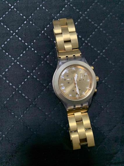 Relógio Swatch (dourado)