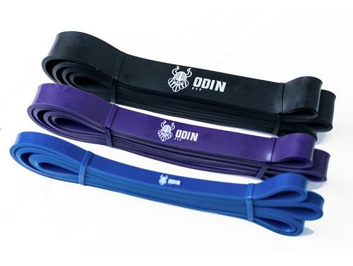 Imagem 1 de 8 de Kit Super Band 3 Intensidades Odin Fit Elasticos Power