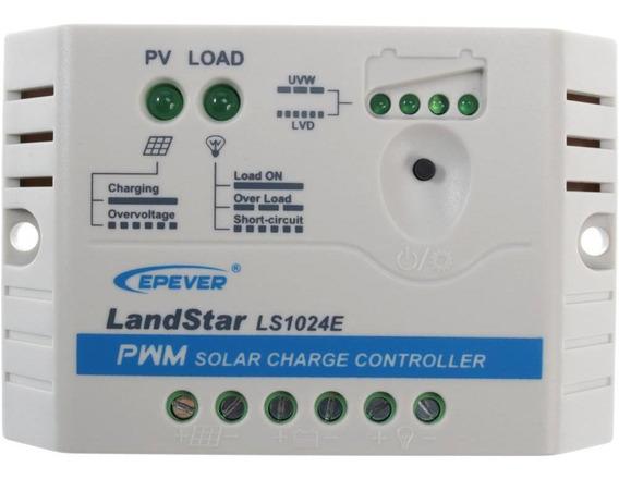Controlador De Cargas 10a 12/24v Pwm - Ls1024e