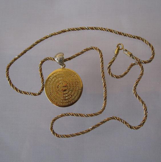 Colar Gargantilha Ouro Brilhantes Or. Pai Nosso -109