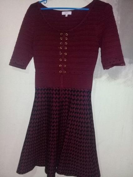 Vestido Rojo / Negro Bordado