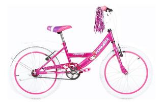 Bicicleta Cross Mega Rodado 20 Full Nene Nena Varon Mujer La Mas Top Completa Reforzada Cross Bmx - Happy Buy + Regalo !