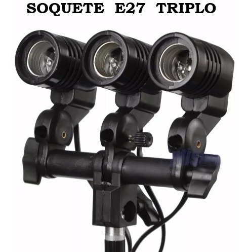 Suporte Soquete Triplo E27
