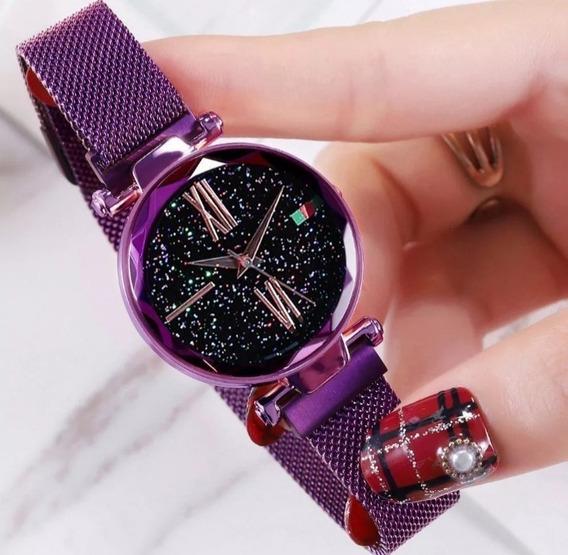 Relógio Feminino Pulseira Magnética Brilhante 2020 Promoção