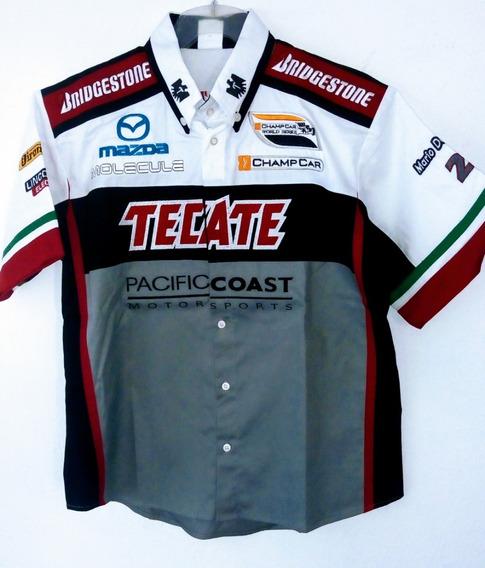 Camisa Tecate Mazda Motorsport Bridgestone Champion Car Auto