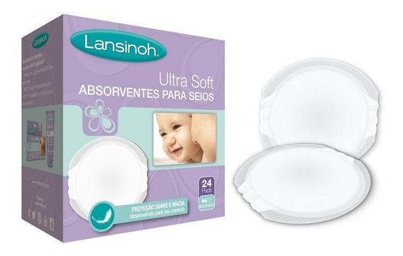 Absorventes Para Os Seios Ultra Soft 24 Unidades - Lansinoh