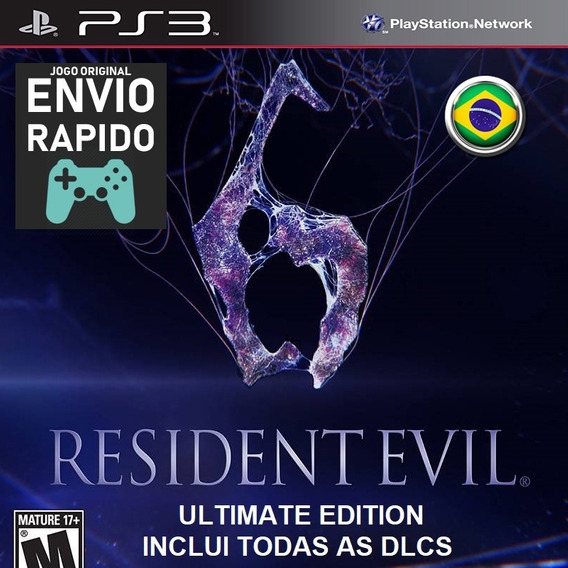 Resident Evil 6 Ultimate Edition Com Todas Dlcs Jogos Ps3