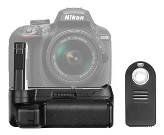 Battery Grip Neewer Orig P/ Nikon D3400 + Disparador Remoto