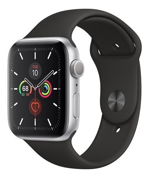 Apple Watch Série 5, Alumínio C/ Pulseira Sport Preta, 44mm
