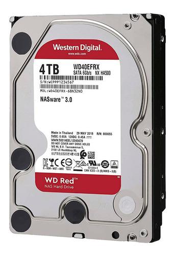 Hdd 3.5 Wd Red 4tb 5400rpm 256mb Sata 3.0
