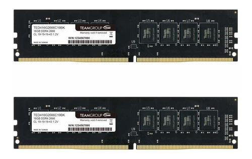 Memoria Teamgroup Elite Ddr4 32gb 16gbx2 2400mhz Pc4-19200 C