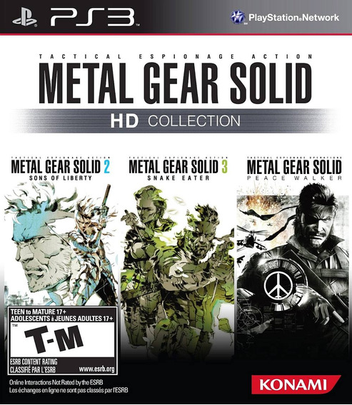 Metal Gear Solid Hd Collection - Ps3 - Mídia Física Nf