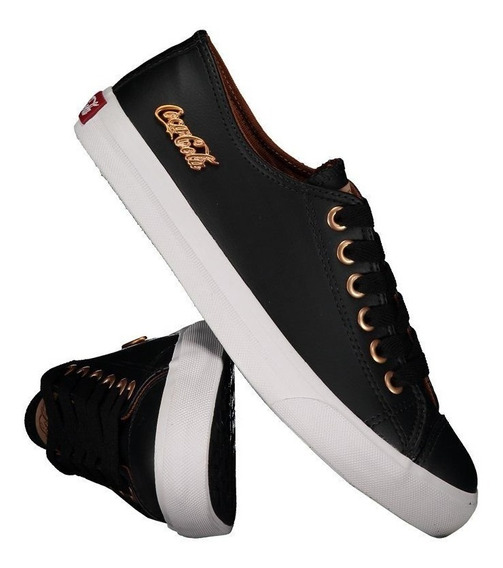 Tênis Coca Cola Basket Floater Low Feminino Preto E Cobre