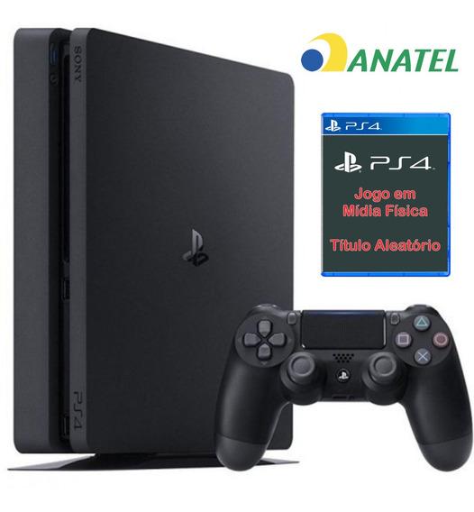 Ps4 Sony Slim Original Ps4 500 Gb Acompanha Um Jogo Brinde