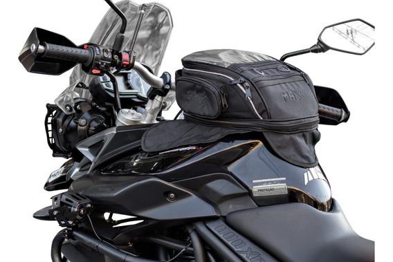 Mala Tanque Black 14 L Magnética Moto Triumph Tiger 800 2016