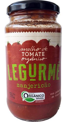 Molho Org Tomate Grape Manjericão 330g
