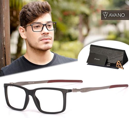 a75211eab Armação Oculos Grau Masculino Avano Av 04-c Tr90 Original