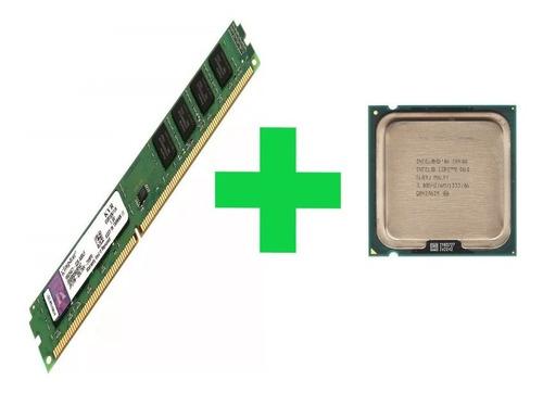 Imagem 1 de 3 de Kit Processador Core 2 Duo 3.0 Ghz E8400 + Memória 4gb Ddr3