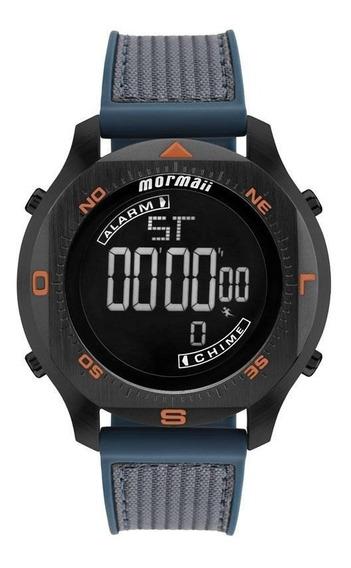 Relógio Masculino Mormaii Mo11273e/8p Silicone / Tecido