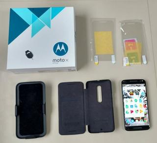 Moto X Style 32gb Camera 4k Motorola Completo + Capas
