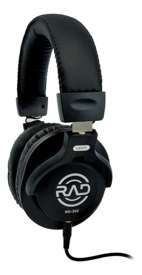 Fone De Ouvido Headphone Gravação Rad Rd-202 Com Nota Fiscal