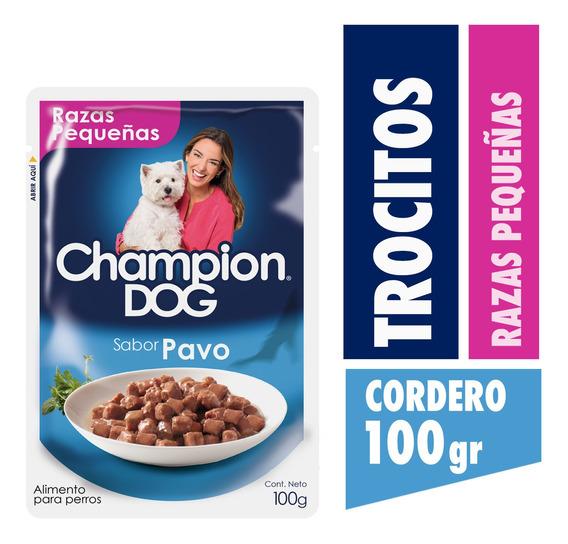 Champion Dog Pouch Raza Pequeña Sabor Pavo 24x100g
