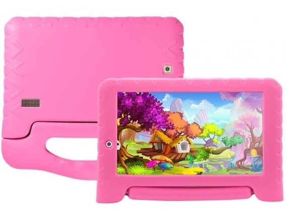 Tablet 7 Kid Pad Plus 8gb Quad Core Rosa Nb279 Multilaser