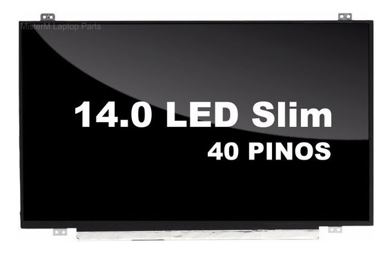 Tela 14.0 Led Slim 40 Pinos Semi Nova + Nota Fiscal
