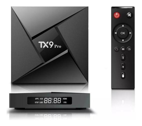 Tv Box Tanix Tx9 Pro Padrão 4k 32gb Preto Com Mm Ram De 3gb