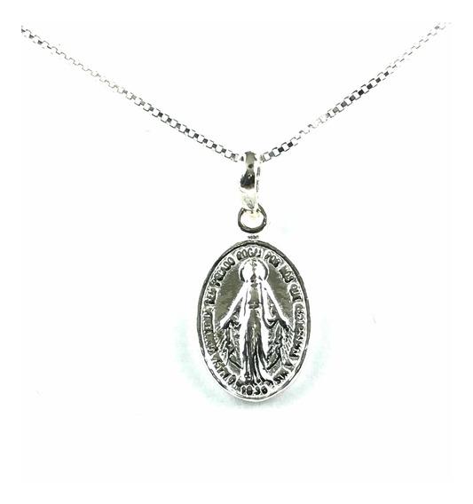 Medalha Nossa Senhora Das Graças Prata 925 + Cordão (40-1)