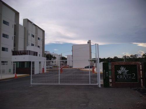 Se Renta A Estrenar Departamento Sin Muebles, 2 Recámaras Planta Baja En Paseo De Los Olivos, Pla