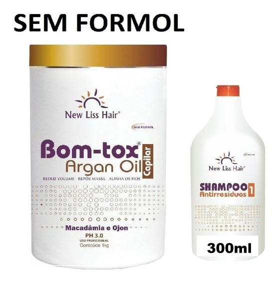 New Bo-tox S/formol 1kg+shampoo 300ml Produto Original
