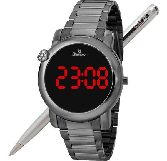 Relógio Champion Led Digital Feminino Ch48064c Grafite - Nfe
