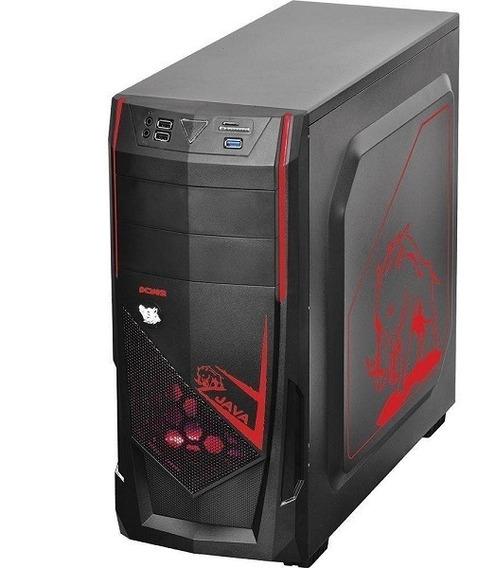 Desktop Cpu Mid Tower Java Br Vermelho Intel I3