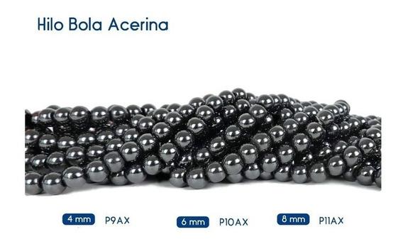 Bola Acerina Piedra Natural Bisuteria 4,6 Y8mm 10pzs+envio