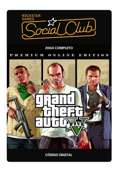Gta 5 Grand Theft Auto V Rockstar Games Social Club - Código