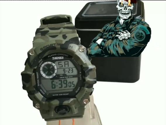 Relógio Modelo Militar Camuflado